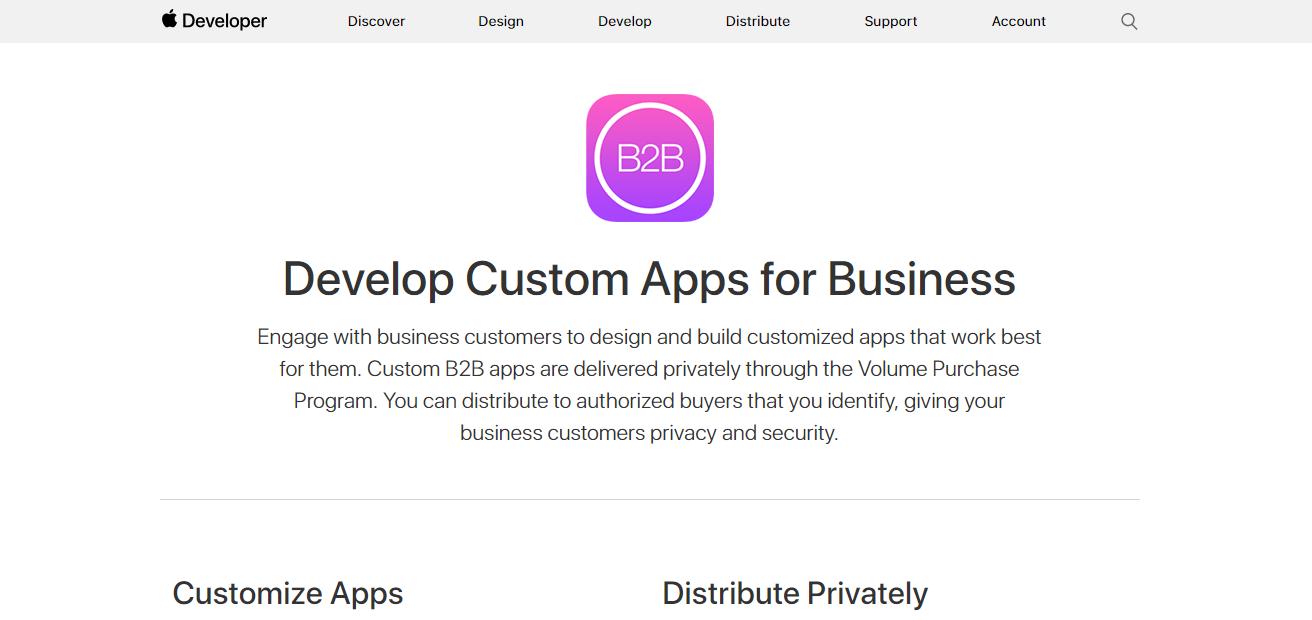 ecommerce B2B ejemplos apple